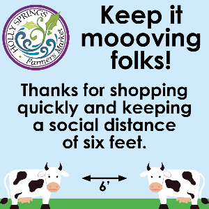 Keep it moooving folks! Thanks for shopping quickly and keeping a social distance of six feet.