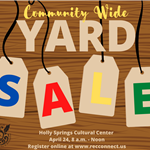Community Wide Yard Sale-April 24, 2021