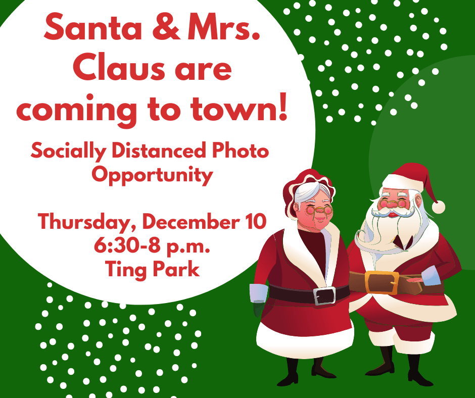 Santa visits on Thursday